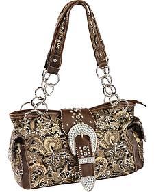 Montana West Paisley Print Satchel Bag
