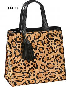 Inzi Leopard Print Hair-on-Hide Tote Bag