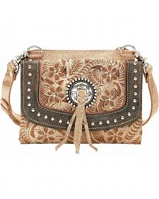 American West Texas Two Step Handbag & Wallet Combo