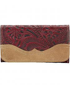 American West Birds of a Feather Red Tri-fold Wallet