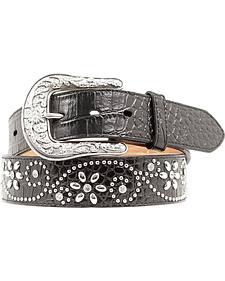Ariat Swirl Studded Croc Print Western Belt