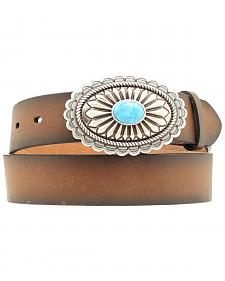 Ariat Faux Turquoise Oval Buckle Belt