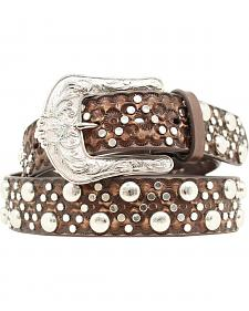 Ariat Studded & Floral Embossed Western Belt