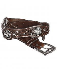 Ariat Scalloped Hand Tooled & Embellished Western Belt