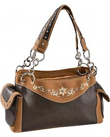 Blazin Roxx Floral Embroidered Satchel