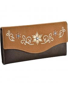 Blazin Roxx Floral Embroidered Wallet