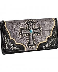 Blazin Roxx Metallic Cross Checkbook Wallet