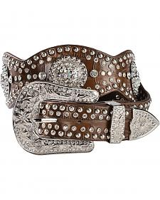 Blazin Roxx Scalloped Concho Leather Belt