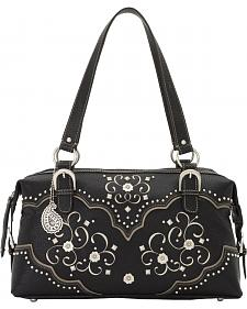 Bandana by American West Women's Savannah Zip Top Satchel