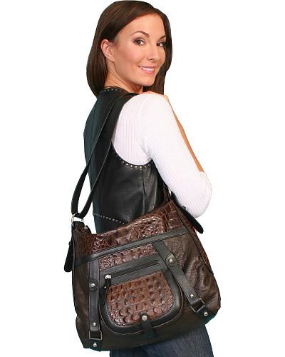 Scully Crocodile Print Shoulder Bag Western & Country B27-HB-ONE