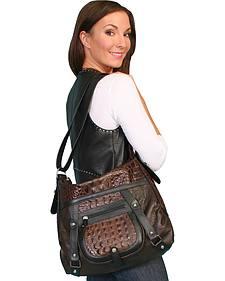 Scully Crocodile Print Shoulder Bag