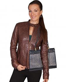 Scully Tooled Leather Shoulder Bag