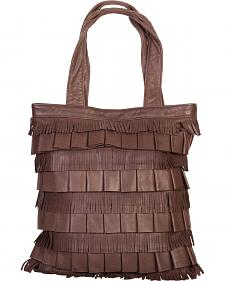 Scully Layered Fringe Leather Tote