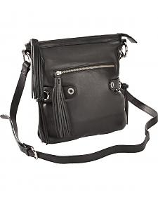 Scully Black Leather Shoulder Bag