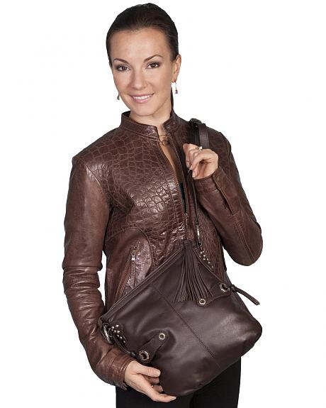 Scully Brown Leather Shoulder Bag