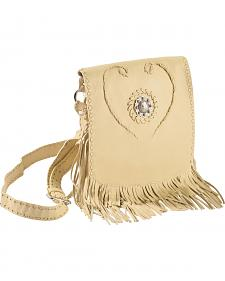 Scully Concho & Fringe Leather Shoulder Bag