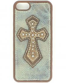 Leather Cross Applique iPhone 5 Case