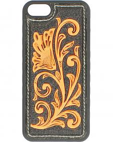 Black & Tan Floral Embossed iPhone 5 Case