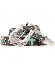 Blazin Roxx Turquoise Studded Cross Belt