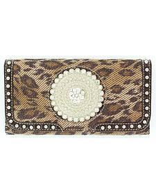 Nocona Leopard Print Wallet