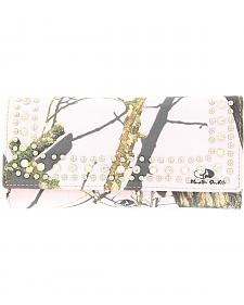 Nocona Pink Mossy Oak Camo Wallet