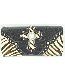 Blazin Roxx Zebra Print Hair-on-Hide Wallet