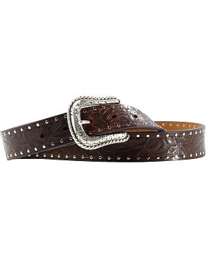 Ariat Western Embossed Brown Belt