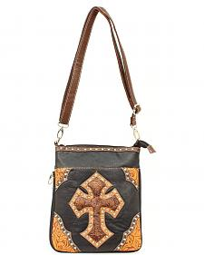 Blazin Roxx Tooled Cross Crossbody Bag