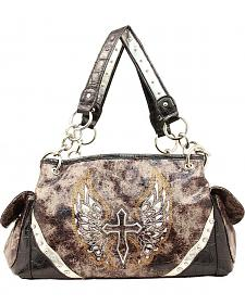 Blazin Roxx Cross with Wings Satchel Bag