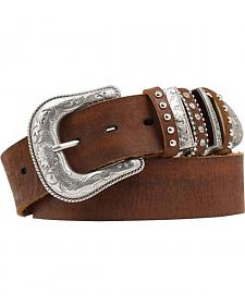 Nocona Bedecked Multi Keeper Leather Belt