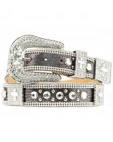 Nocona Rhinestone Cross Concho Bling Belt