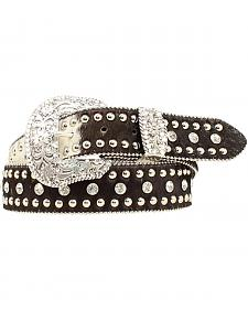 Nocona Studded Hair-on-Hide Belt