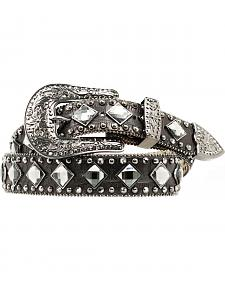 Nocona Croc Print Diamond Studded Belt