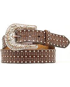 Nocona Studded Leather Belt