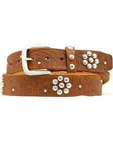 Nocona Floral Studded Belt