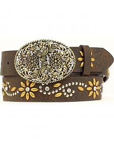 Nocona Floral Studded Crackle Belt