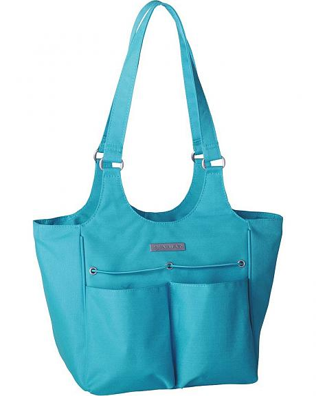 Ariat Mini Carry All Teal Poly Canvas Tote Bag