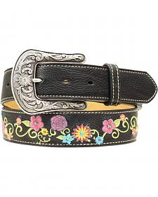 Ariat Floral Embroidered Belt