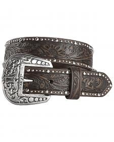Ariat Tooled & Studded Leather Belt