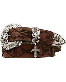 Nocona Fancy Embroidered Leather Belt