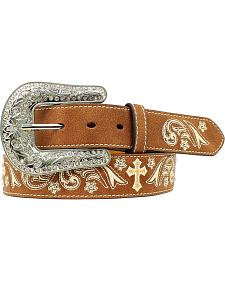 Nocona Floral Cross Embroidered Belt