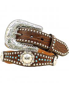 Nocona Scalloped Turquoise Studded Concho Belt