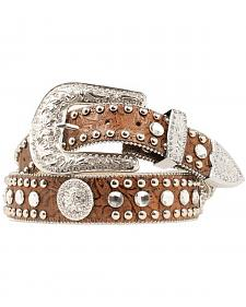 Blazin Roxx Floral Embossed Concho Studded Belt
