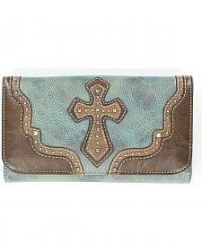 Blazin Roxx Studded Cross Applique Wallet