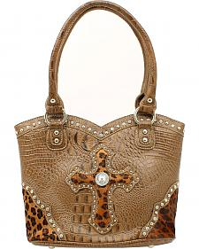 Blazin Roxx Leopard Print Cross Bucket Bag