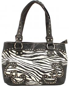 Blazin Roxx Zebra Print Shoulder Bag