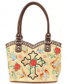 Blazin Roxx Cross, Rose & Birds Boot Top Bag