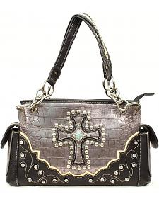 Blazin Roxx Croc Print Cross Satchel Bag