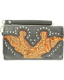 Blazin Roxx Embellished Tooled Inlay Wallet