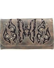 Blazin Roxx Thunder Bird Sequin Inlay Wallet Clutch